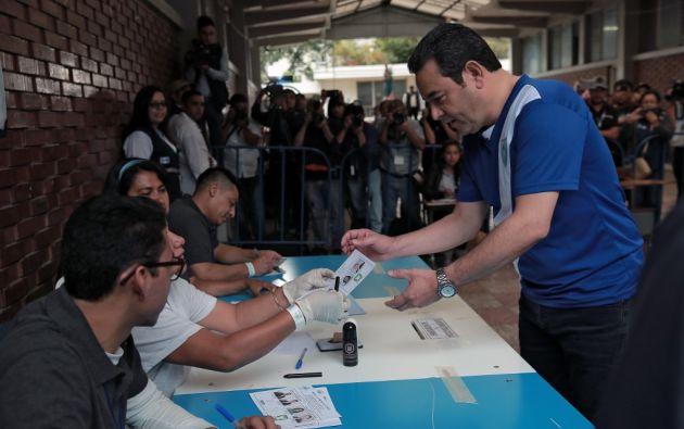 El ganador sustituirá en enero por un periodo de cuatro años al actual mandatario, Jimmy Morales. Foto: AFP