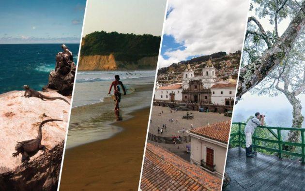 Los destinos más visitados: Quito, Atacames, Guayaquil, Cuenca, Ambato, Latacunga, Salinas, Manta, Riobamba y Santo Domingo de los Tsáchilas. Foto: Ministerio de Turismo