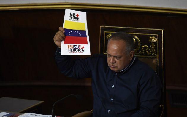 """En una sesión en la que el presidente de la ANC, Diosdado Cabello, dejó claro que se ha iniciado una """"contraofensiva"""". Foto: AFP"""