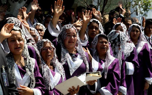 Según la organización, su culto tiene unos dos millones de adeptos en México y tres millones más en otros países. Foto: AFP