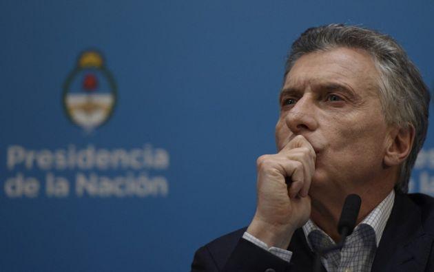 """El mandatario anunció un paquete de medidas """"para aliviar el bolsillo de los argentinos"""". Foto: AFP"""