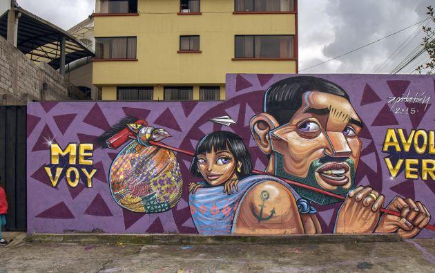 Mural realizado por el artista urbano conocido como Apitatán | Foto: Internet
