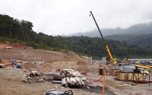 Proyecto aurífero Fruta del Norte en Zamora Chinchipe. Foto: Ministerio de Energía y Recursos no Renovables
