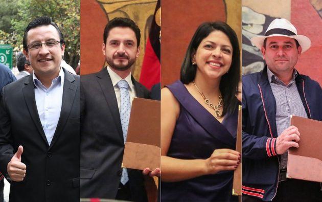 David Rosero, Juan Javier Dávalos, Ibeth Estupiñán y Francisco Bravo.