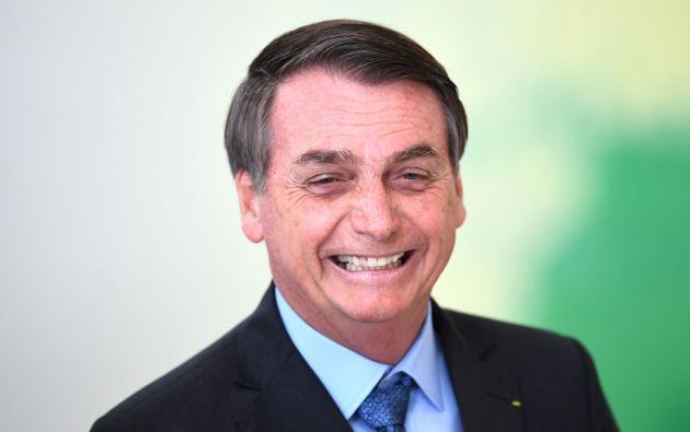 Bolsonaro critica a Noruega desde que este país, tal como lo hiciera Alemania, anunció la semana pasada el bloqueo de 133 millones de reales. Foto: AFP