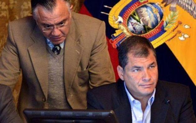 El expresidente Correa admitió la veracidad de los chats con Mera.