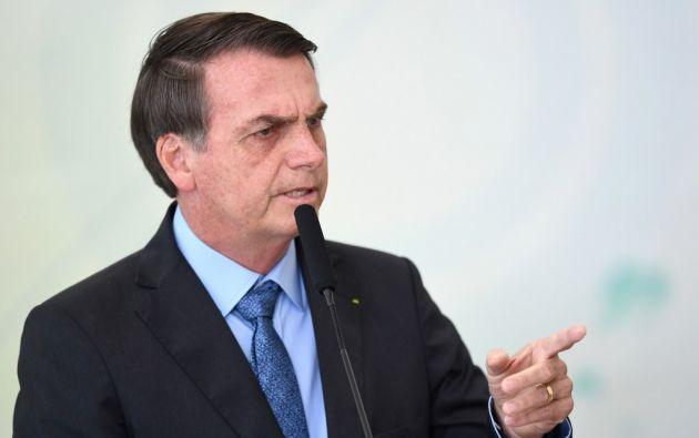 Decenas de productores rurales provocaron incendios en sus propiedades de forma coordinada en una muestra de apoyo al presidente Bolsonaro. Foto: AFP