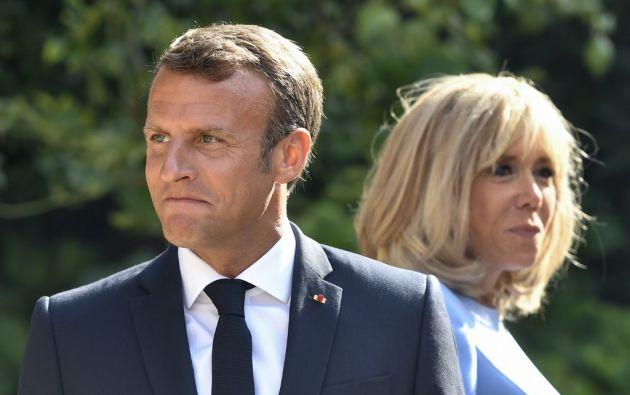 """Bolsonaro hizo """"comentarios extraordinariamente irrespetuosos sobre mi esposa"""", señaló Macron. Foto: AFP"""