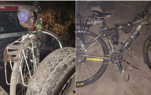Las bicicletas robadas que fueron halladas por la Policía. Foto: Twitter.