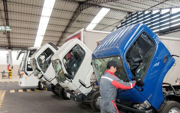 Teojama Comercial cuenta con ocho talleres de mecánica a nivel nacional para sus camiones Hino y cinco talleres de colisiones donde reciben a vehículos de diferentes marcas. Foto: Segundo Espín.