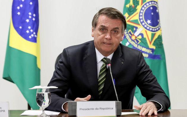 Bolsonaro enfrenta una creciente presión interna y externa por los incendios que se multiplicaron en la Amazonía. Foto: AFP
