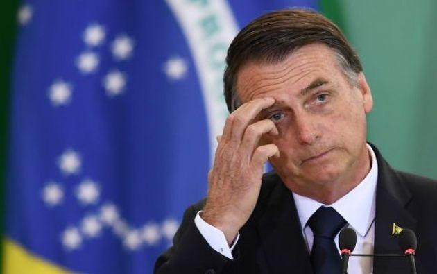 Con un índice de rechazo de 38 %, Bolsonaro es el presidente brasileño peor evaluado durante su primer mandato. Foto: AFP.
