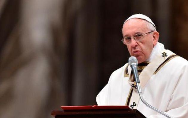 """El papa Francisco mostró su rechazo hacia la eutanasia y la describió como """"una visión utilitarista de la persona"""". Foto: AFP."""