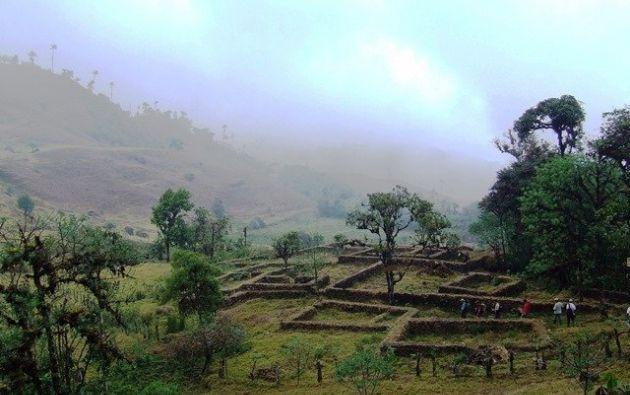 Yacuviña es un importante asentamiento prehispánico asociado a las ocupaciones incas en el sur de Ecuador. Foto: Twitter.