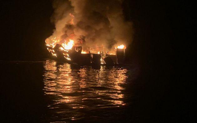 Se desconocen los motivos del incendio del Conception, una embarcación de la compañía de submarinismo Truth Aquatics que partió el sábado. Foto: AFP