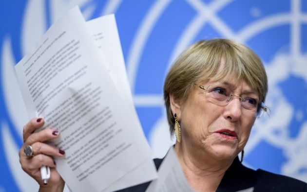 Bachelet lamentó que el chavismo no haya tomado las medidas que le pidió para reducir la violencia estatal contra los venezolanos. Foto: AFP