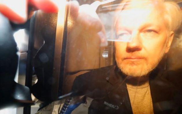 Assange permanece en una cárcel de seguridad británica tras su arresto. Foto: AFP