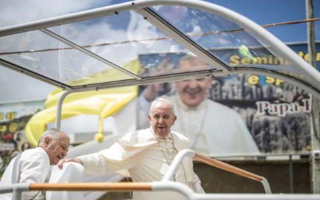 El pontífice llegó hoy, 9 de septiembre, a la Isla de Mauricio donde destacó su rostro multicultural, étnico y religioso. Foto: AFP