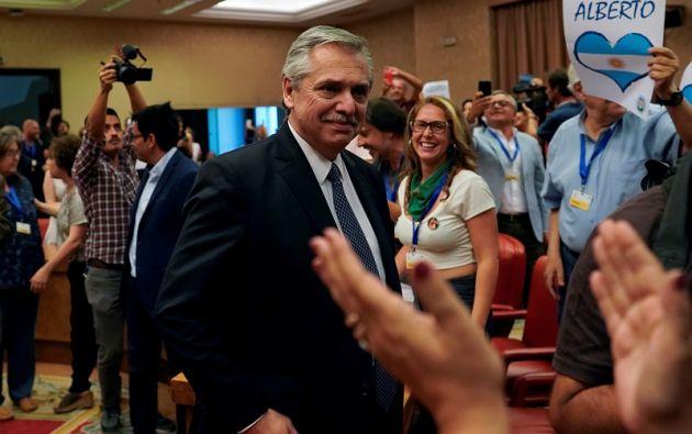 """""""Pero esta vez la gente tiene que tener una tranquilidad. Quien gobierne no va a ir sobre la gente"""", afirmó Fernández.  Foto: Reuters"""