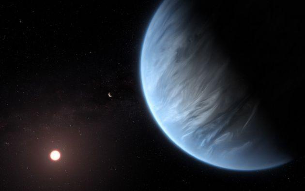 El único exoplaneta súper-Tierra conocido por albergar tanto agua como temperaturas que podrían soportar la vida.