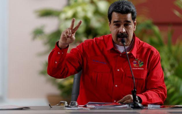 """""""El Amazonas está siendo destruido en Brasil"""", afirmó Maduro. Foto: Reuters"""
