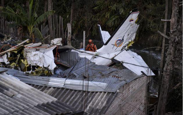 La aeronave que ocupaban siete pasajeros y dos tripulantes se dirigía hacia el municipio de López de Micay. Foto: AFP.