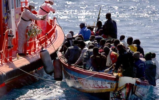 La ruta del Mediterráneo central registró en 2019 el arribo de 6.570 migrantes por mar a Italia y 2.260 a Malta, según la OIM. Foto: AFP.