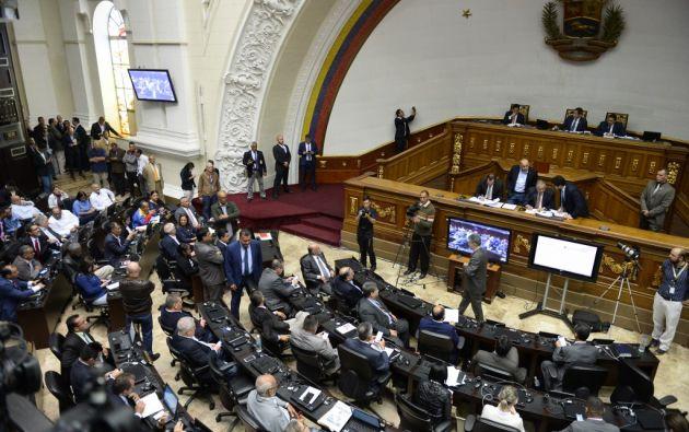 El regreso del chavismo a la Cámara fue elogiado por Guaidó. Foto: AFP