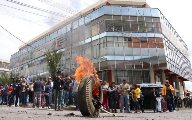 """""""Toda la provincia, todos los sectores, están movilizados"""", expresó el prefecto de Carchi, Guillermo Herrera. Foto: Ecuavisa"""