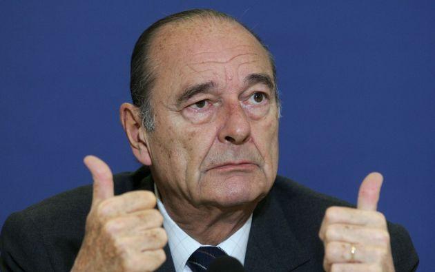 Chirac fue presidente entre 1995 y 2007 y anteriormente fue alcalde de París y primer ministro. Foto: AFP