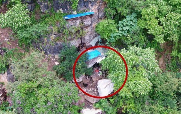 Jiang permaneció 17 años en una cueva aislado de la interacción humana. Foto: Policía de Yongshan.