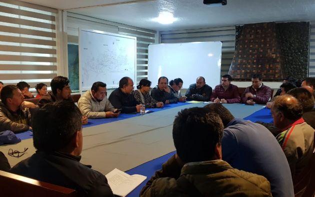 La reunión empezó a las 9 de la noche y se extendió por siete horas, pero lograron algunos acuerdos.