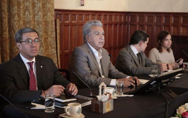 A puertas cerradas, en el Palacio de Carondelet, el presidente de la República, Lenín Moreno, y su gabinete se reunieron el 30 de septiembre de 2019.