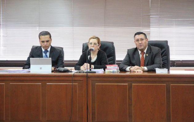 El Tribunal de Casación está integrado por Camacho, que actúa de ponente, y los jueces Iván Saquicela y Wilman Terán.