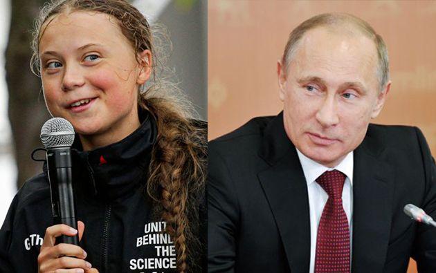"""Putin asegura no compartir el """"entusiasmo general"""" que produjo el discurso de Greta. Foto: AFP."""