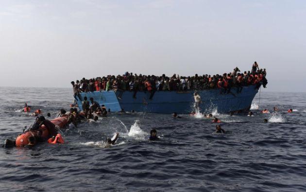 La ruta central -hacia Italia y Malta- se mantiene como la más peligrosa, con 660 fallecimientos registrados en lo que va de año. Foto: AFP.