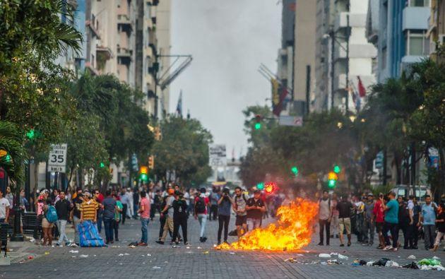 El gobernador del Guayas informó que manifestantes indígenas buscaban entrar a Guayaquil y se retiraron. | Fotos: José Villacreses (Cortesía) y AFP.