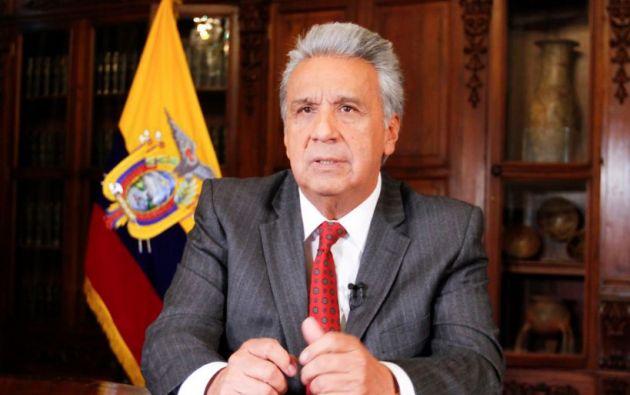 """El presidente Moreno pidió a los ecuatorianos en general, no prestarse al paro """"para que aprovechen aquellos que buscan el caos"""". Foto: Presidencia."""