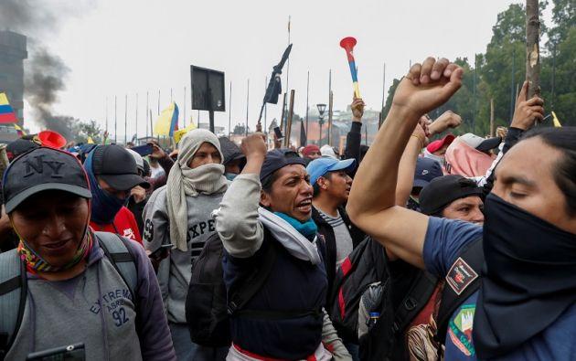 La Confederación de Nacionalidades Indígenas (Conaie) no da su brazo a torcer. Foto: Reuters