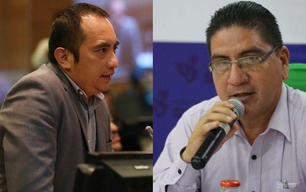 Asambleísta Yofre Poma y el prefecto de Sucumbíos Amado Chávez.