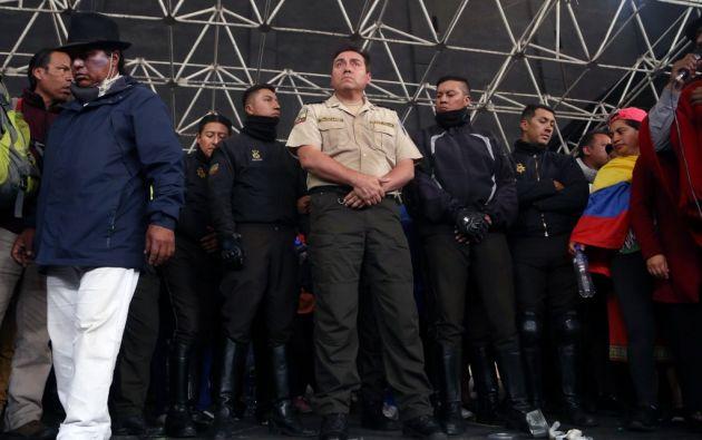 """El dirigente de la Conaie, Jaime Vargas, afirmó que no se """"venderá al gobierno"""" y que la movilización se mantiene. Foto: AFP"""