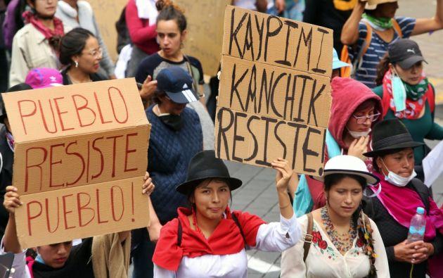 La Conaie anunció que dialogará directamente con el presidente Lenín Moreno. Foto: AFP.