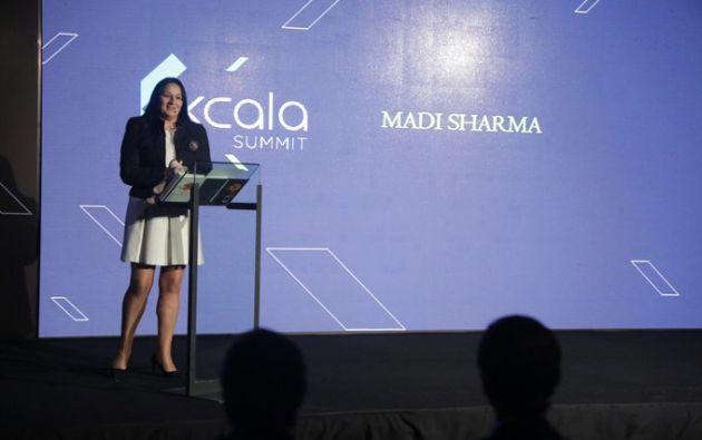 """Madi Sharma afirma que se convirtió en emprendedora """"porque básicamente nadie más me daba empleo, así que me vi forzada a empezar un negocio""""."""
