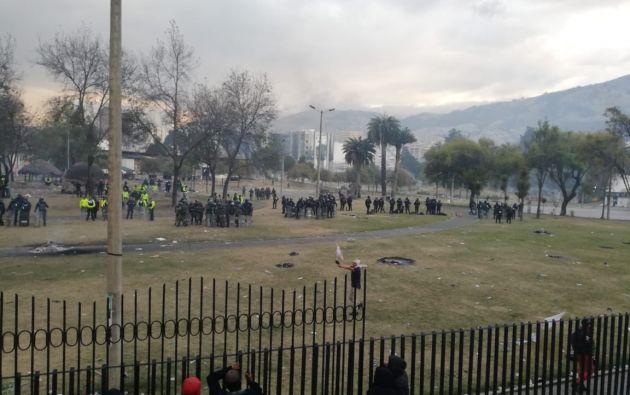 La Policía controla el orden en el Parque del Arbolito y garantizará la no intervención cerca de áreas en donde se encuentra el movimiento indígena.