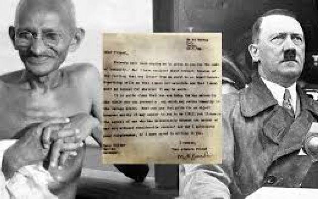 """Gandhi le llamó """"querido amigo"""" a Hitler en una carta y le instó a detener la guerra."""