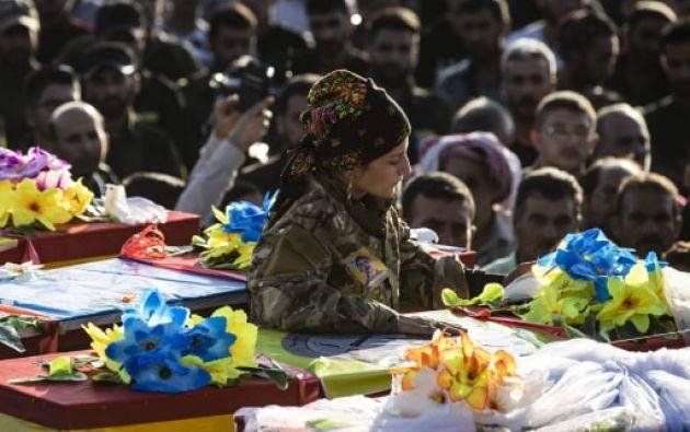 Según la ONU entre 150.000 y 160.000 personas se han visto obligadas a abandonar sus hogares en el norte de Siria en los últimos seis días. Foto: AFP.
