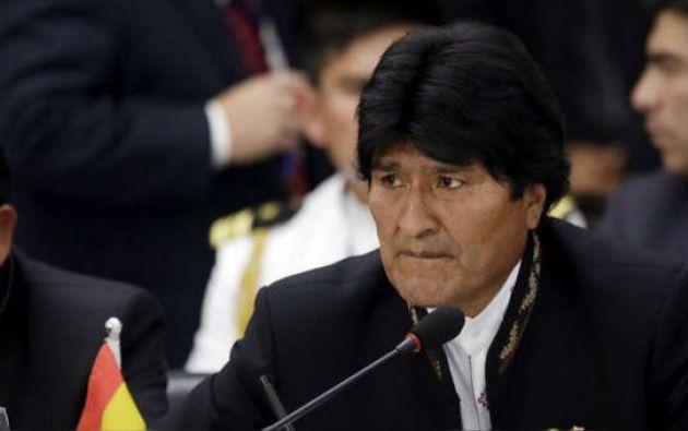 Morales busca su cuarto mandato consecutivo en las elecciones de este 20 de octubre. Foto: AFP.