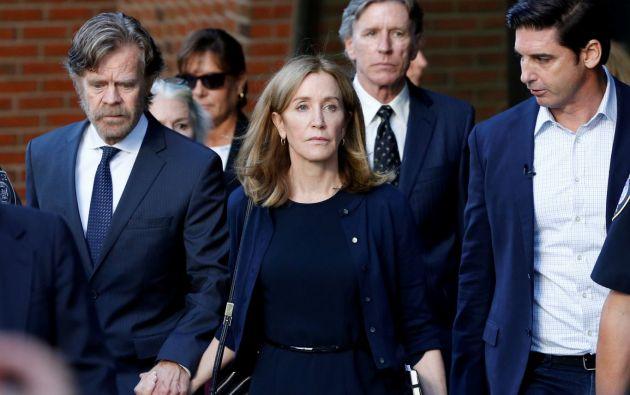 Felicity Huffman se declaró culpable de pagar para falsificar el examen de ingreso universitario de su hija mayor. Foto: Reuters.