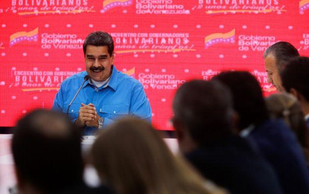 """""""Recurso directo de la mina de oro al Estado, de la mina de oro a la gobernación, al pueblo"""", celebró el líder chavista. Foto: AFP"""