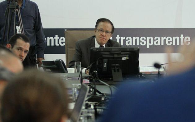 Marcelo Merlo, Zobeida Aragundi, Aquiles Rigail, Angélica Porras y Juan Pablo Albán fueron miembros del Consejo de la Judicatura transitorio.